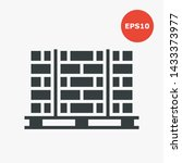 pallets with bricks icon.... | Shutterstock .eps vector #1433373977