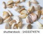 cloves of asiatic garlic ... | Shutterstock . vector #1433374574