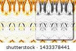 black and white quadrate on... | Shutterstock . vector #1433378441