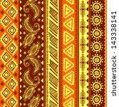 red tribal ornament seamless | Shutterstock .eps vector #143338141