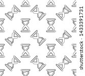 hourglass icon seamless pattern ... | Shutterstock .eps vector #1433391731