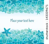 blue sea floor card with sea... | Shutterstock .eps vector #143339671