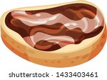 bread with chocolate and nut... | Shutterstock .eps vector #1433403461