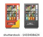 vending machine. snacks... | Shutterstock .eps vector #1433408624