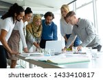front view of diverse business... | Shutterstock . vector #1433410817