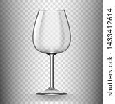 big reds wine empty glass... | Shutterstock .eps vector #1433412614