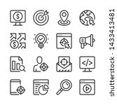 seo line icons set. target... | Shutterstock .eps vector #1433413481