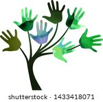 decorative tree made of...   Shutterstock .eps vector #1433418071
