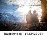 loving couple enjoys the... | Shutterstock . vector #1433423084