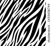seamless pattern with zebra... | Shutterstock .eps vector #1433438744