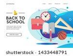 back to school vector concept... | Shutterstock .eps vector #1433448791