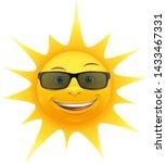 cartoon summer sun with... | Shutterstock .eps vector #1433467331