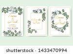 wedding floral invitation card... | Shutterstock .eps vector #1433470994