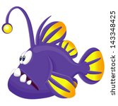angler fish vector cartoon... | Shutterstock .eps vector #143348425