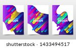 set of modern colorful... | Shutterstock .eps vector #1433494517