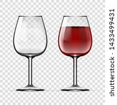 big reds wine empty glass and... | Shutterstock .eps vector #1433499431