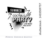 summer party ad text in pop art ... | Shutterstock .eps vector #1433509757