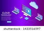 isometric cloud computing... | Shutterstock .eps vector #1433516597