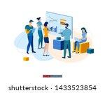 trendy flat illustration....   Shutterstock .eps vector #1433523854
