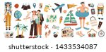 collection of adventure tourism ... | Shutterstock .eps vector #1433534087