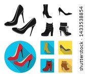 Vector Illustration Of Heel And ...