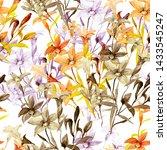 flowerless drawing of a bouquet ...   Shutterstock . vector #1433545247