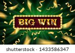 big win banner illuminated by... | Shutterstock .eps vector #1433586347