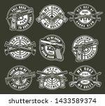 vintage monochrome military...   Shutterstock .eps vector #1433589374