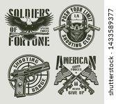 vintage monochrome military... | Shutterstock .eps vector #1433589377