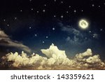 vintage night sky | Shutterstock . vector #143359621