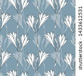 seamless vector pattern. lily... | Shutterstock .eps vector #1433612531