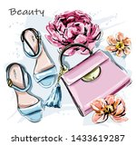 hand drawn cute set with...   Shutterstock .eps vector #1433619287