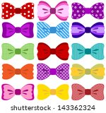 bow collection  completely... | Shutterstock .eps vector #143362324