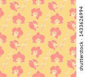 seamless pattern with orchid... | Shutterstock .eps vector #1433626994