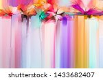 abstract colorful oil  acrylic... | Shutterstock . vector #1433682407