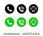 call icon vector  phone icon... | Shutterstock .eps vector #1433721314