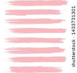 brush stroke set isolated on...   Shutterstock .eps vector #1433731301
