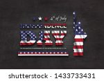 4th of july happy independence... | Shutterstock .eps vector #1433733431