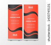 modern roll up with red... | Shutterstock .eps vector #1433745131