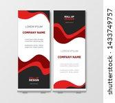 modern business roll up.... | Shutterstock .eps vector #1433749757