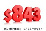843  eight hundred forty three... | Shutterstock . vector #1433749967