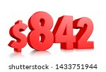 842  eight hundred forty two... | Shutterstock . vector #1433751944