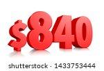 840  eight hundred forty price... | Shutterstock . vector #1433753444