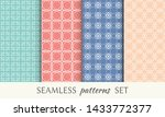 set of seamless line patterns.... | Shutterstock .eps vector #1433772377