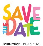 save the date. vector... | Shutterstock .eps vector #1433774264