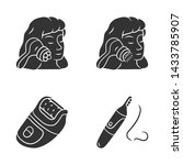 beauty devices glyph icons set. ... | Shutterstock .eps vector #1433785907