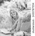 online freelance career concept.... | Shutterstock . vector #1433787554