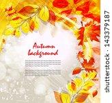 autumn vector background | Shutterstock .eps vector #143379187