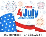 american independence day ... | Shutterstock . vector #1433812154