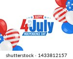 american independence day 4th... | Shutterstock . vector #1433812157